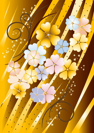 Abstract  brownish  background with  painted  flower. Background. Wallpaper Stock Vector - 7311097