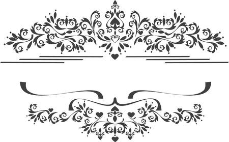 Decorative ornament border .  Graphic arts