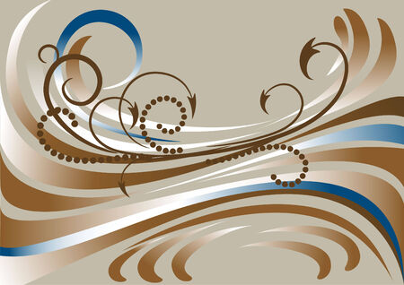 oscillation: Banner con rayas de color marr�n y gr�fico. Banner.Background  Vectores