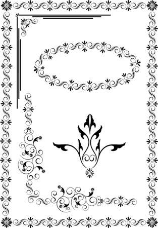Decorative frame, border of ornament.Graphic arts.