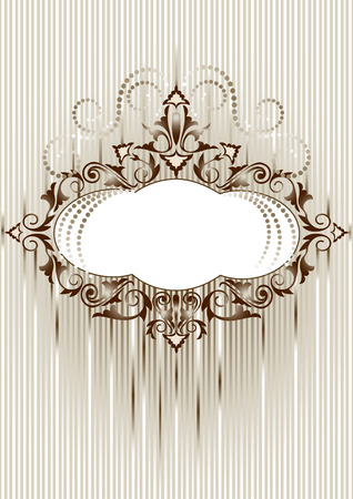 Decorative frame in an old style. Banner. Postcard. Illustration