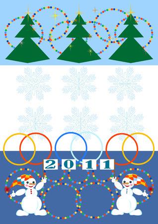 Christmas card.New Year! Postcard.  Vector