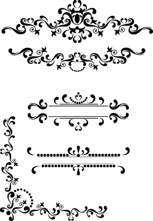 corner border: Decorative corner, border , frame.Graphic arts. Illustration