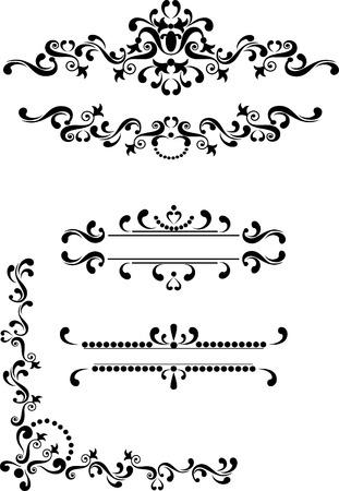 Decorative corner, border , frame.Graphic arts. Illustration