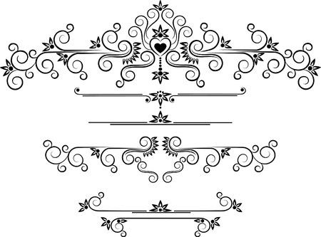 Decorative ornament border .  Graphic arts.
