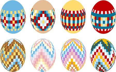 Painted Easter eggs. Design. Illustration. Stock Vector - 9130954