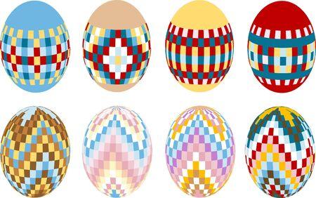 Painted Easter eggs. Design. Illustration. Stock Vector - 9130954