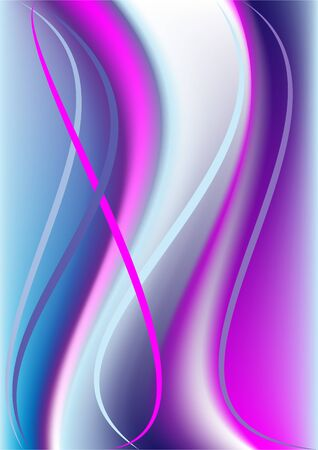 Colorful wave and colored stripes on a violet-blue background.Background. Vector