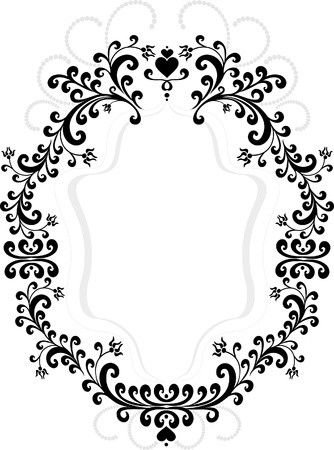 Frame of decorative ornament.  Graphic arts. Stock Vector - 9572718
