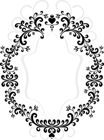Frame of decorative ornament.  Graphic arts.