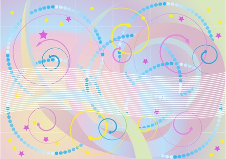 motley: Abstract motley background with beaded, stars and arrows. Background. Wallpaper Illustration