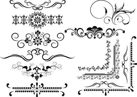Decorative  ornamental border, frame on a white background. Graphic arts.