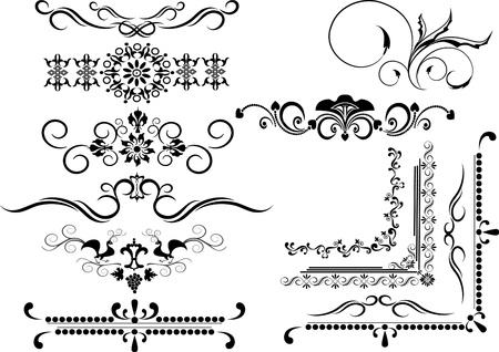 Decorative  ornamental border, frame on a white background. Graphic arts. Vector