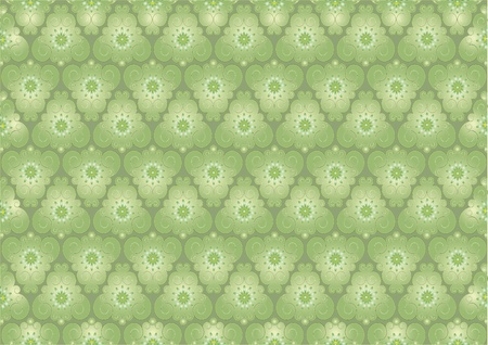 Abstract curved petals on the  light green background.  Background. Wallpaper Stock Vector - 10171212