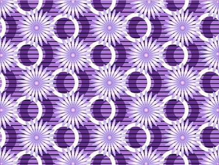 Purple background with light lavender flowers and bright decor. Background. Vector