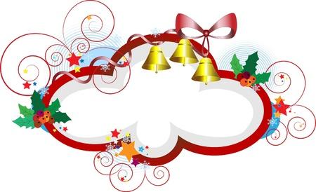 Elegant frame for Christmas gifts.Postcard  Stock Vector - 10727916