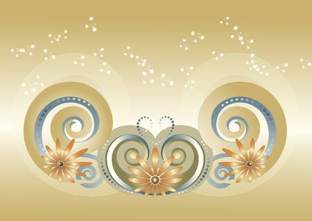Banner swirling shapes and colors on a light background.Banner Vector