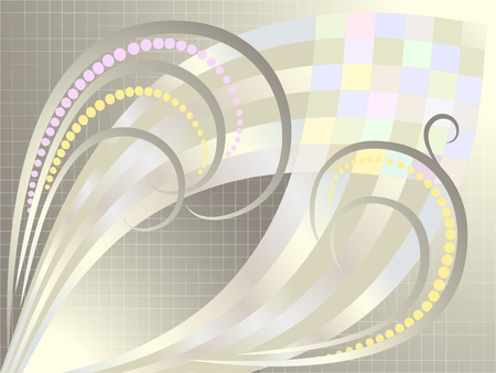 Abstract curves for silver plaid background.Banner.Background. Vector