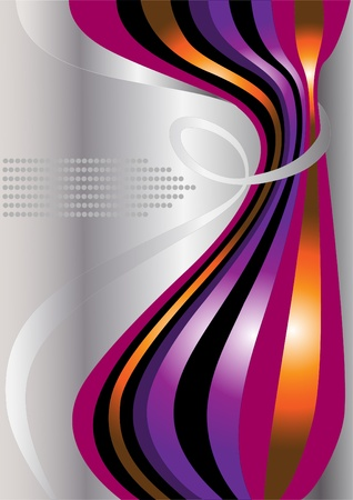 Bright curves of curved stripes on a light background