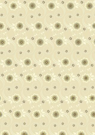 pale yellow: Yellow flowers with rounded decoration on pale yellow background.Background