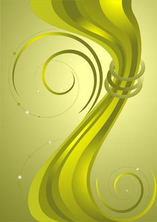 vibrations: Abstract decorative stripes on the background with green nuances.Banner.Background