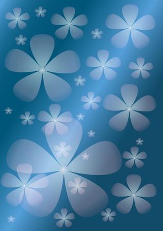 papel tapiz turquesa: Resumen de fondo azul con flores transparentes. De fondo.
