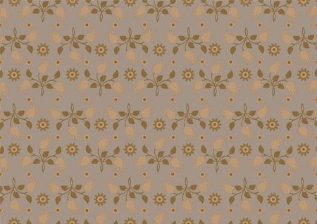 Bouquets of yellow flowers in the background with brown shades.Background. Stock Vector - 12115923
