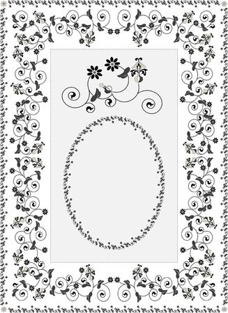 Decorative frame rug  Graphic   Vector