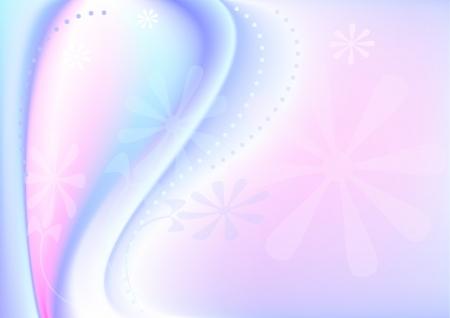 oscillation: Flor en el Banner olas de fondo rojo y azul claro