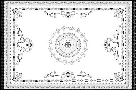 gestickt: Jahrgang Ornamente im orientalischen Stil Teppich Graphic Illustration