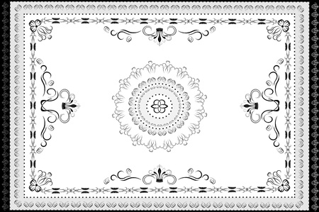 Vintage ornaments in oriental style carpet  Graphic Stock Vector - 13620955