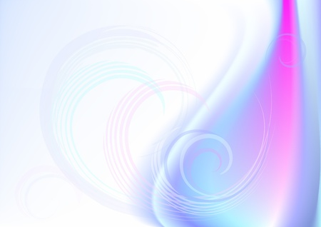 Transparent curves in red blue wavy background
