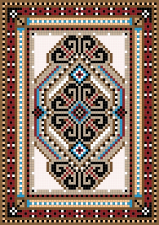 Oriental design in the frame for carpet  Vector