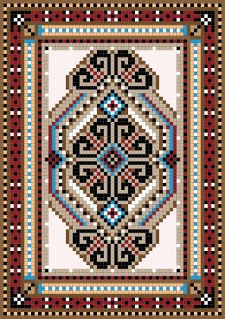 Oriental design in the frame for carpet Stock Vector - 13979136