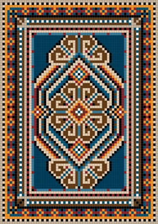 The ancient oriental design with a frame for carpet Stock Vector - 13979137