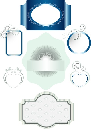 Options for frames with different decorations and patterns Vector