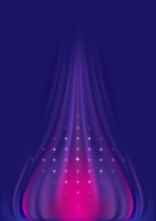 Abstract wavy purple pink background with stars  Stock Vector - 14355226
