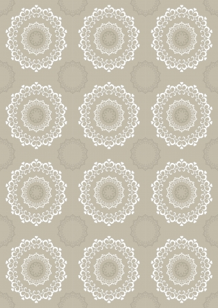 Seamless light beige background with openwork circles Vector