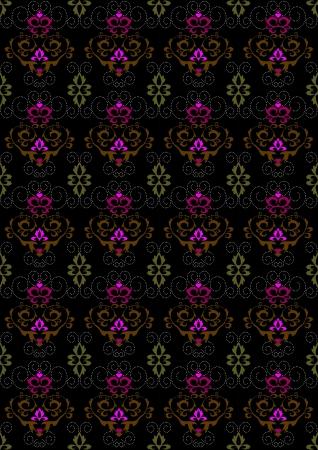 motley: Motley sfondo senza soluzione di continuit� con l'ornamento floreale