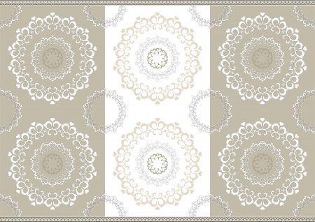 Delicate openwork circles on border seamless background Vector