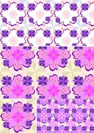 Variations of floral seamless background Stock Vector - 14828661