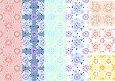 Options shades seamless floral pattern Stock Vector - 14885268