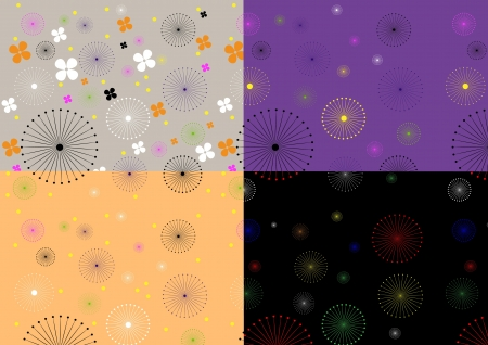 Different colors gentle seamless background Stock Vector - 15474122