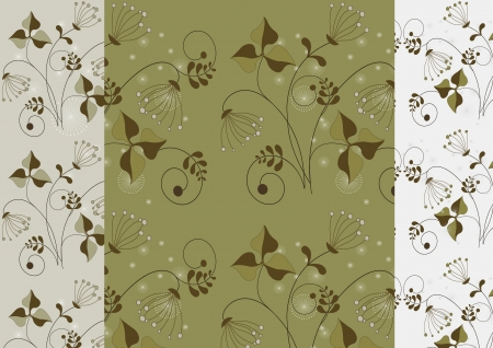 Variations seamless background with a delicate pattern flowers Stock Vector - 15474127