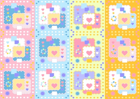 Variations of colors motley seamless background Stock Vector - 16161745