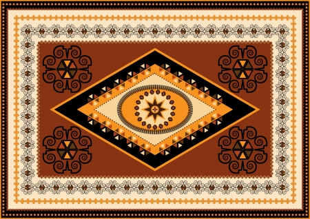 oriental rug: Decorative rug designs in oriental style Illustration