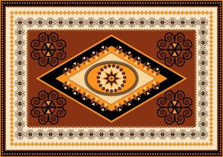 Decorative rug designs in oriental style Stock Vector - 16161744