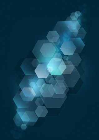Dark blue abstract  background with silver rhombuses Stock Vector - 19245518