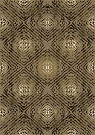 illusory: Dibujo en relieve brown Light con la luz de vuelta ovalada