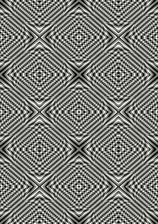 illusory: Rayos Beige y negro creando ilusoria de movimiento Vectores